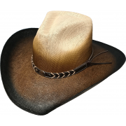 Straw Pinch 2 toned Stained Black/Brown
